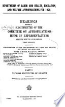 Departments of Labor and Health, Education, and Welfare Appropriations for 1978