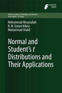 Normal and Student   s t Distributions and Their Applications