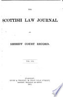 Scottish Law Journal and Sheriff Court Record