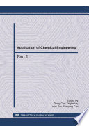 Application Of Chemical Engineering Book PDF