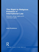 The Right to Religious Freedom in International Law
