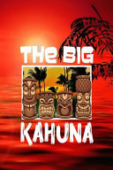 The Big Kahuna  Hawaii Tiki Bar Retro Vibes Aloha Fishing Surfing Shark Men s Cream Paper College Ruled Lined Notebook Journal Matte P