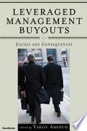 Leveraged Management Buyouts