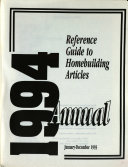 Reference Guide to Homebuilding Articles