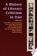 A History of Literary Criticism in Iran, 1866-1951