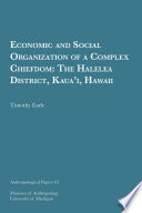 Economic And Social Organization Of A Complex Chiefdom