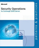 Security Operations For Microsoft Exchange 2000 Server Book PDF