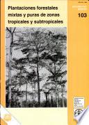 Plantaciones forestales mixtas y puras de zonas tropicales y subtropicales