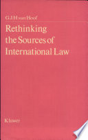 Rethinking the Sources of International Law Book