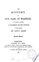 The history of Guy, earl of Warwick [revised by J. Beck].