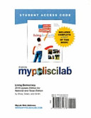 Living Democracy 2010 Mypoliscilab Student Access Code Card