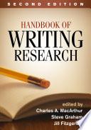 """Handbook of Writing Research, Second Edition"" by Charles A. MacArthur, Steve Graham, Jill Fitzgerald"