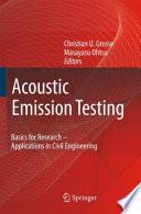 Acoustic Emission Testing Book