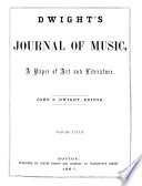 Dwight s Journal of Music Book