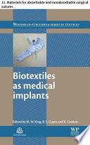 Biotextiles as medical implants