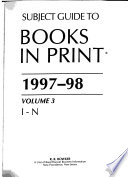 Subject Guide to Books in Print 1997-98
