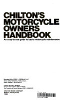 Chilton s Motorcycle Owners Handbook