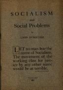 Socialism and Social Problems