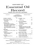 Perfumery and Essential Oil Record