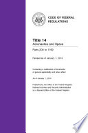 Title 14 Aeronautics And Space Parts 200 To 1199 Revised As Of January 1 2014