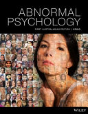 Cover of Abnormal Psychology 1E Print on Demand (Black and White)
