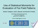 Use of Statistical Moments for Evaluation of Far Field Patterns