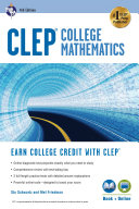 CLEP   College Mathematics  4th Ed   Book   Online
