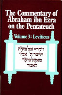 The Commentary Of Abraham Ibn Ezra On The Pentateuch Leviticus