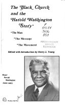 The Black Church and the Harold Washington Story