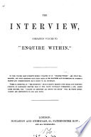 The interview  companion volume to  Enquire within   by R K  Philp