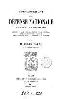 Gouvernement de la défense nationale du 30 juin 1870. (au 22 juillet 1871).