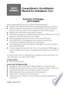 2012 Comprehensive Accreditation Manual for Ambulatory Care  Camac  Book