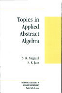 Topics in Applied Abstract Algebra