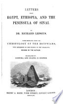 Letters From Egypt Ethiopia And The Peninsula Of Sinai