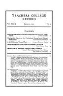 Teachers College Record