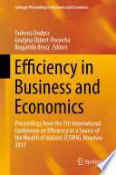 Efficiency In Business And Economics Book PDF