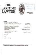 The Maritime lawyer