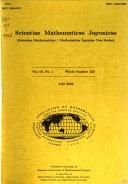 Scientiae Mathematicae Japonicae