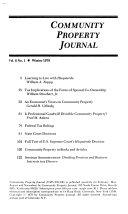 Community Property Journal