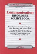 Communication Disorders Sourcebook Book
