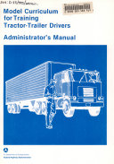 Model Curriculum for Training Tractor trailer Drivers
