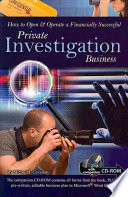 How To Open Operate A Financially Successful Private Investigation Business
