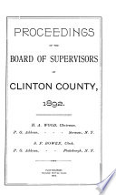Proceedings of the Board of Supervisors  County of Clinton