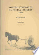 Oxford Symposium on Food   Cookery  1989 Book