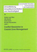 Conflict Resolution in Coastal Zone Management Book