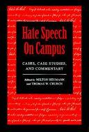 Hate Speech on Campus