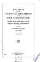 Hearings Before Committee On Armed Services Of The House Of Representatives On Sundry Legislation Affecting The Naval And Military Establishments 1947