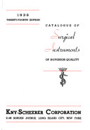 Catalogue of Surgical Instruments of Superior Quality