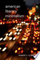 American Literary Minimalism Book