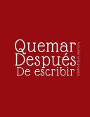 Burn After Writing Español